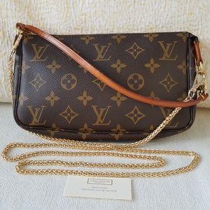 Louis Vuitton Pochette Accessoires  w/ Strap